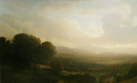 """Open Sky"" by Scott Thomas Balfe, oil, 30"" x 48"" courtesy of the artist."