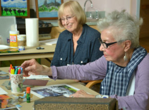 ASCC volunteer Sharon Rutkowski (left) with Camphill Ghent resident