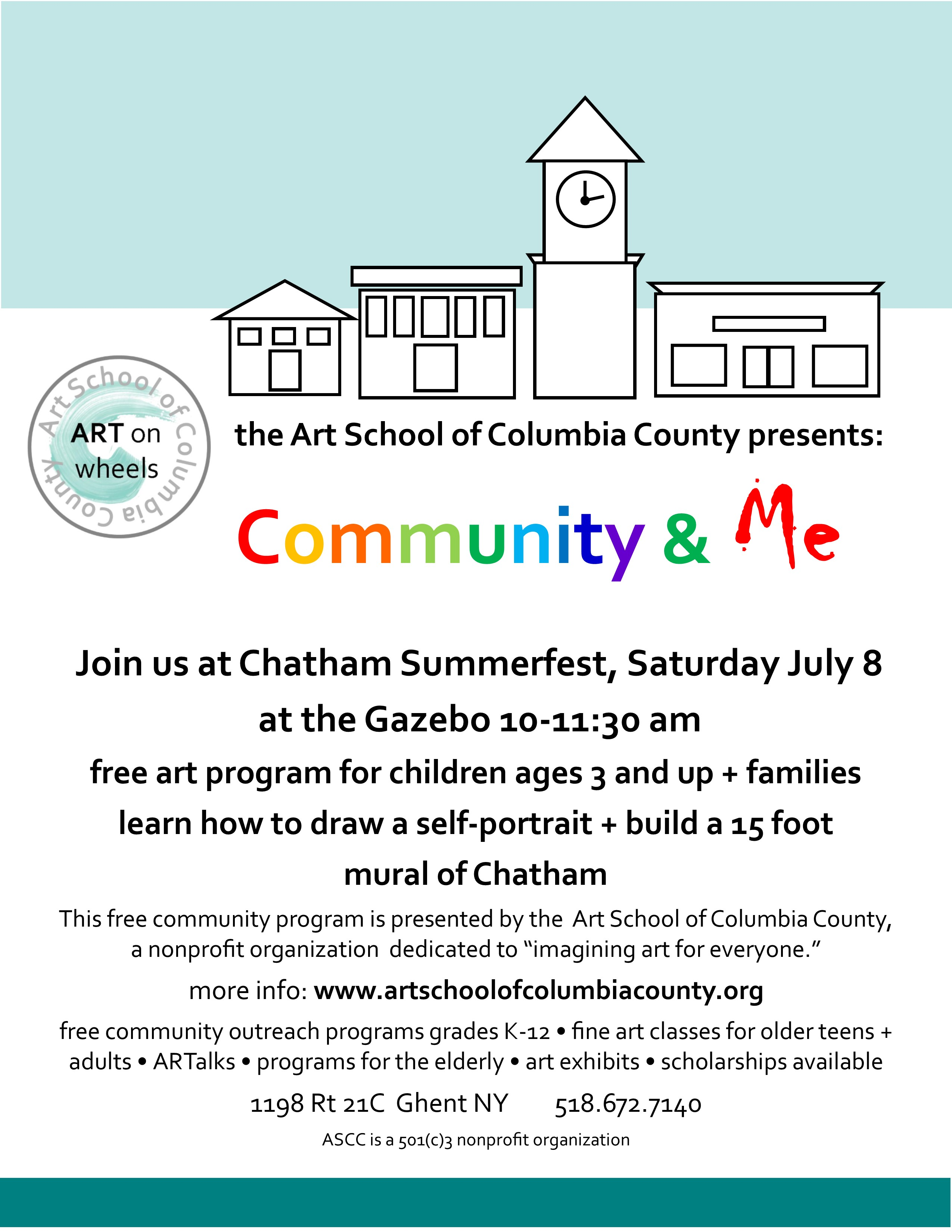 Community me july 8 2017 art school of columbia county for Craft fairs near me november 2017