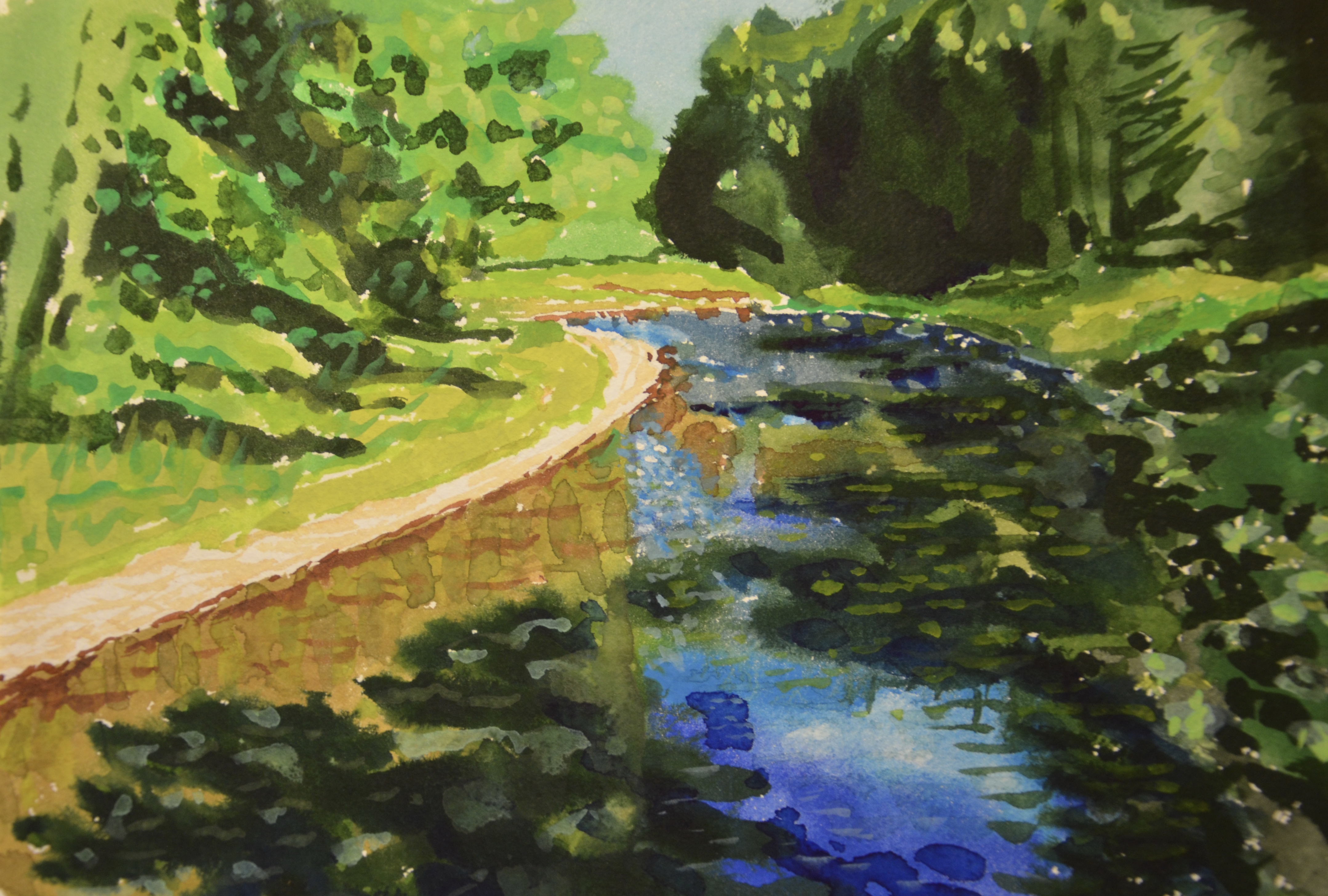 Working with Pastels at Land Conservancy Sites